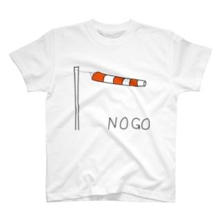 風が強い時に着る T-shirts