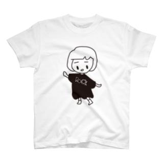 前髪心電図ちゃん T-shirts