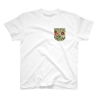 fake poket tatto pattern T-shirts