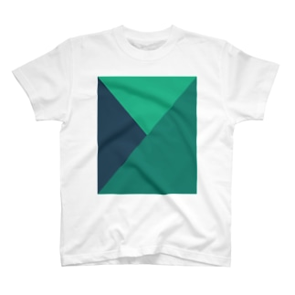 Composition in Green, Green, and Green (Light Mode) T-shirts