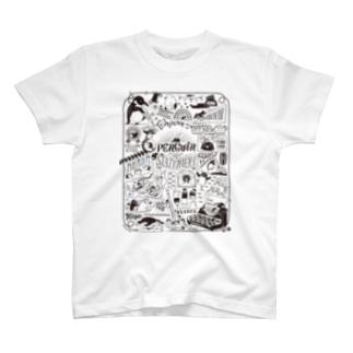 ペンギン×ステーショナリー T-shirts