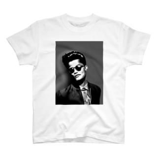 fashionable men モノクロ T-shirts
