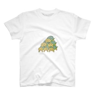 かめミッド T-shirts