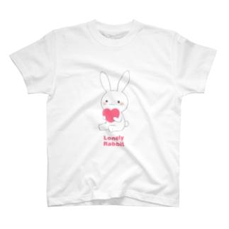 白うさぎ(ペア) T-shirts