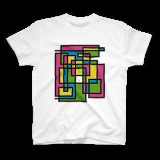 OZA_WORLDのぐにゃぐにゃ T-shirts