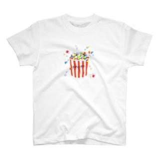 キカガクポップコーン T-shirts