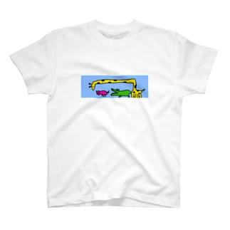 キリンさん ブタさん ワニさん T-shirts