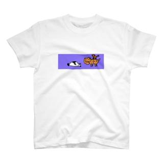 サルさん ライオンさん パンダさん T-shirts