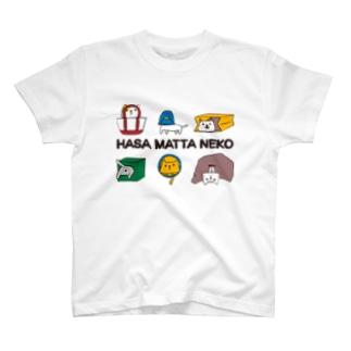 挟まった猫 T-shirts