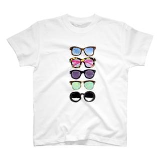 メガネなメガネ T-shirts