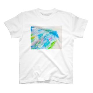 余白の海へすすむ魚𓆛𓆜𓆝𓆞𓆟 T-shirts