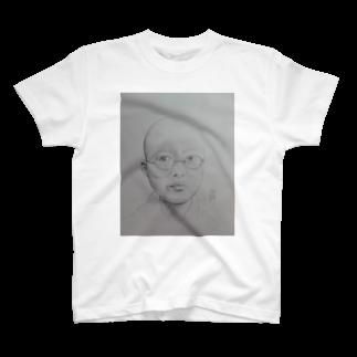 てんじん閲覧注意のよんじゅ頭丸めT T-shirts
