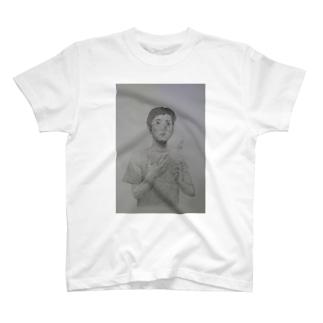 よんじゅ丸めがね T-shirts