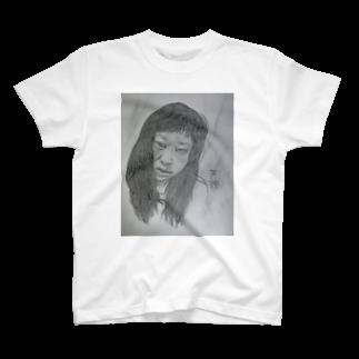 てんじん閲覧注意の天神髪ボサ T-shirts