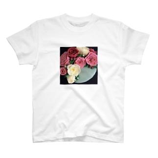 パイピングのお花 T-shirts
