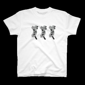 muneshigeのミミチャン (ねこ、三毛猫) T-shirts