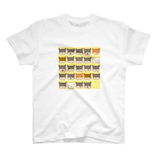 柴犬さんがいっぱい(イエロー) T-shirts