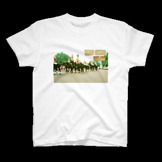 FUCHSGOLDのイギリス:王室騎兵(近衛騎兵) England: Horse Guards T-shirts