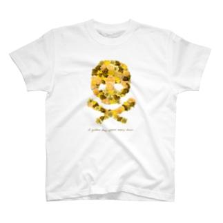 フラワードクロ(イエロー) T-shirts