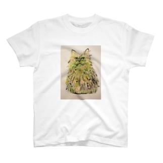 ソーメンズのボタニカル猫 T-shirts