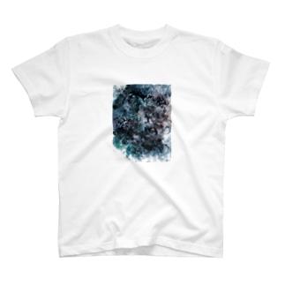 影(白) T-shirts
