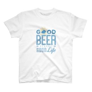 クラフトビールラバー T-shirts