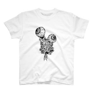 ガイコツコツくん(しろ) T-shirts