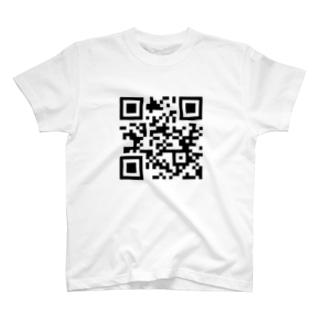 見てんじゃねぇQRコード T-shirts