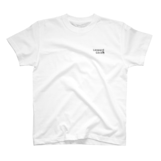 LeopardGecko(胸ロゴ)#黒 T-shirts