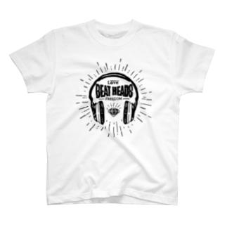 BEATHEADS black print T-shirts