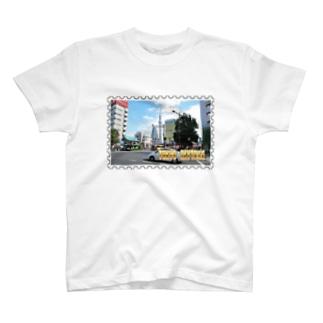東京都:東京スカイツリー★白地の製品だけご利用ください!! Tokyo: Tokyo Skytree from Asakusa★Recommend for white base products only !! T-shirts
