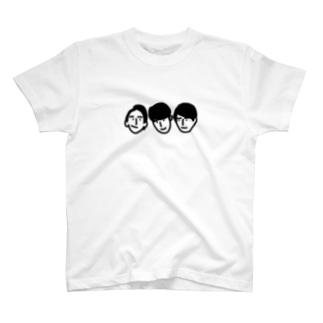 ハダカハレンチ似顔絵(3人) T-shirts