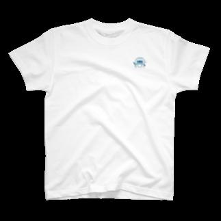 Japanarration_ジャパナレーションの鳥羽の朝市_今浦_青スタンプ T-shirts
