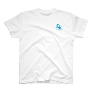 シオメ キャラクター 青 T-shirts