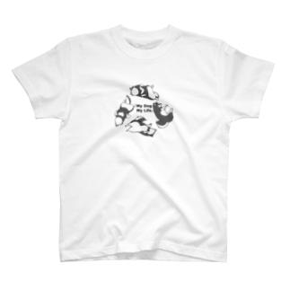 My Dog.My Life 黒柴 T-shirts