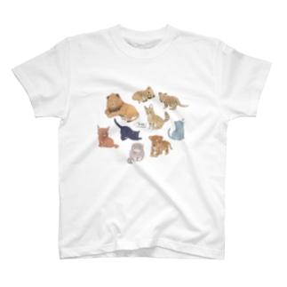 ネコカ集合 T-shirts