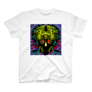 HIORIの骸骨脳目 T-shirts