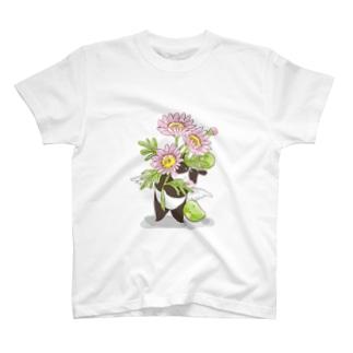 マーガレットとまめぱんだ T-shirts