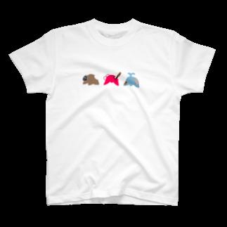 美加地商店の愉快な3人組 T-shirts