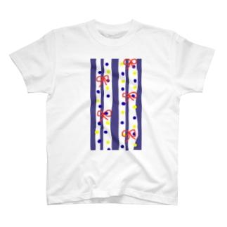 手拭い柄風 T-shirts