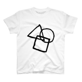 シンプル(黒) T-shirts
