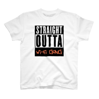 ストレイト アウタ Wi-Fi gang T-shirts