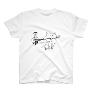 ヒゲギター T-shirts