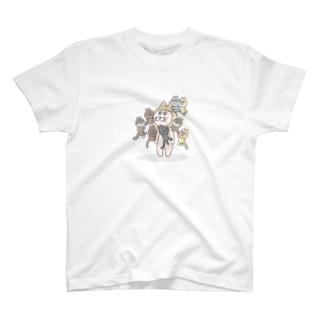 8にゃんむらがり T-shirts