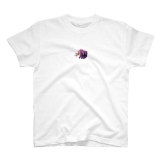 ムラサキ・パンジー T-shirts
