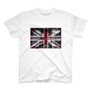 ユニオンジャック&ドクロ T-shirts