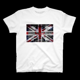 スカル君とスケルちゃんのユニオンジャック&ドクロ T-shirts
