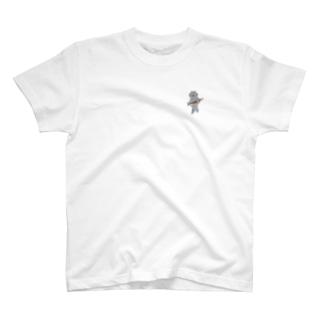 SUIMINグッズのお店の【小】盗んだ焼きサンマと歩き出す猫 T-Shirt