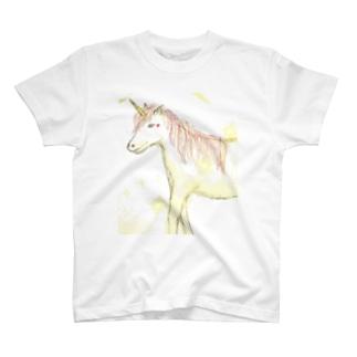 天使のやすらぎのユニコーン T-shirts