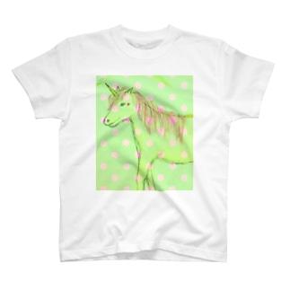 ユニコーン やすらぎ T-shirts
